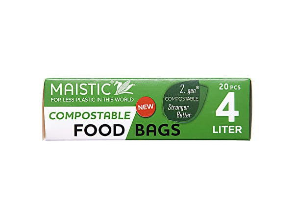 2.Gen Compostable Food Bag 4Ltr