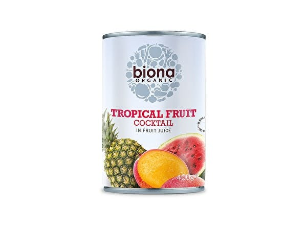Organic Tropical Fruit Cocktail In Fruit Juice