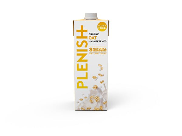 Plenish Organic Oat M*lk Drink - Unsweetened - Gluten Free