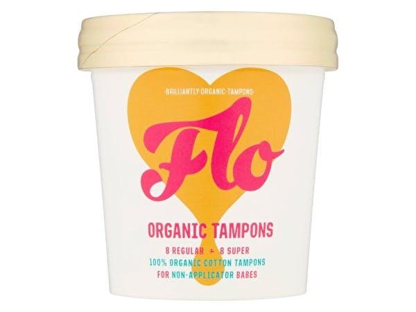 Organic Regular+Super Non Applicator Tampons