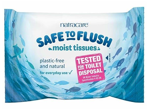 Safe To Flush Moist Tissues